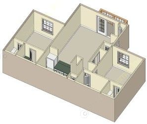 936 sq. ft. B floor plan