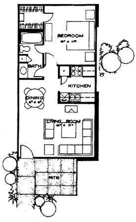 650 sq. ft. Cancun floor plan
