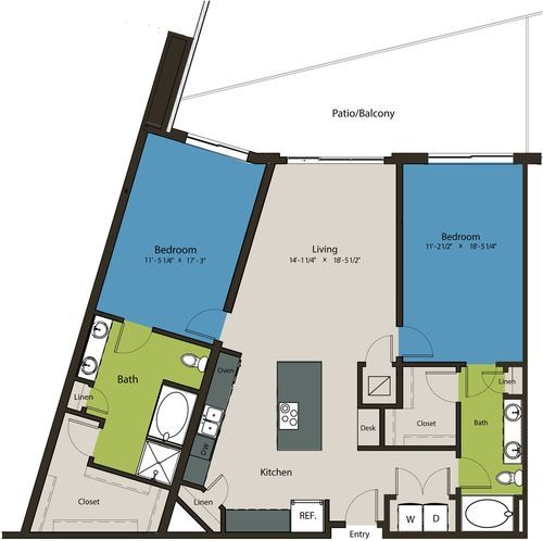 1,477 sq. ft. B12 floor plan