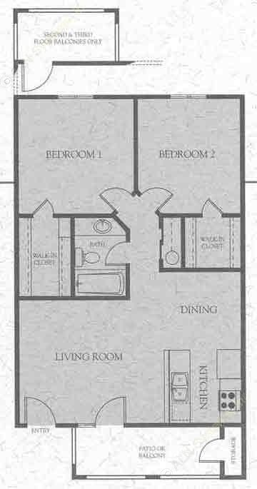 759 sq. ft. E floor plan