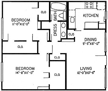 924 sq. ft. B2 floor plan
