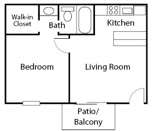 450 sq. ft. Dogwood floor plan