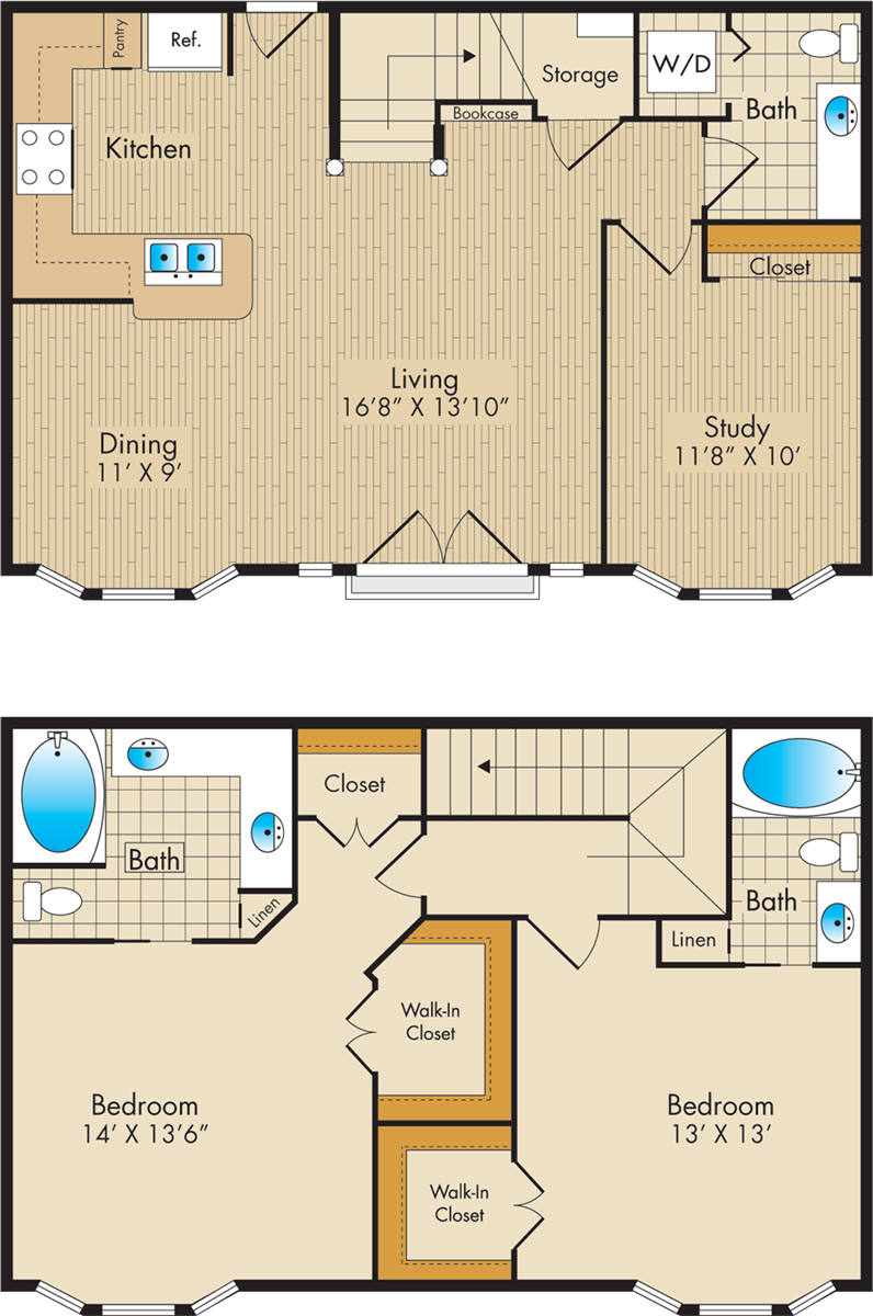 1,491 sq. ft. H1 floor plan