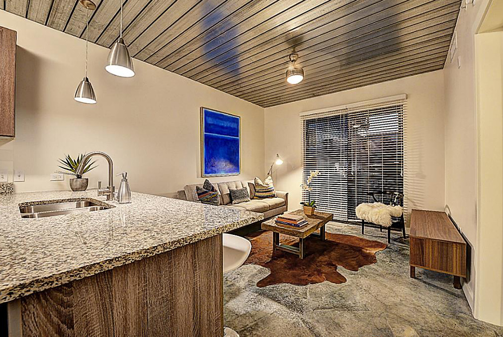 Living/Kitchen at Listing #249897