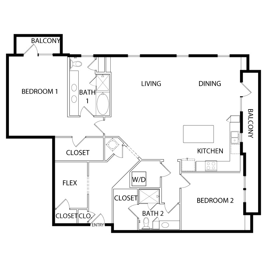 1,738 sq. ft. B7 floor plan