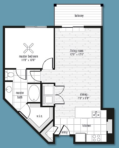804 sq. ft. to 1,044 sq. ft. R floor plan