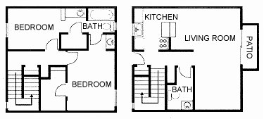 1,100 sq. ft. floor plan