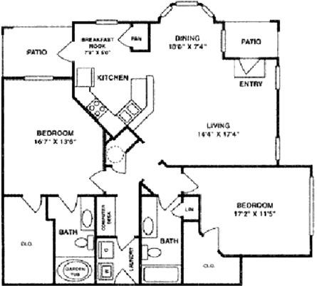 1,412 sq. ft. B5 Lower floor plan
