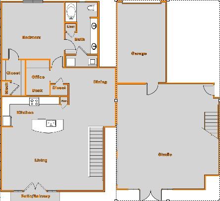 2,153 sq. ft. Live/Work floor plan