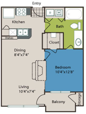 663 sq. ft. A2L floor plan