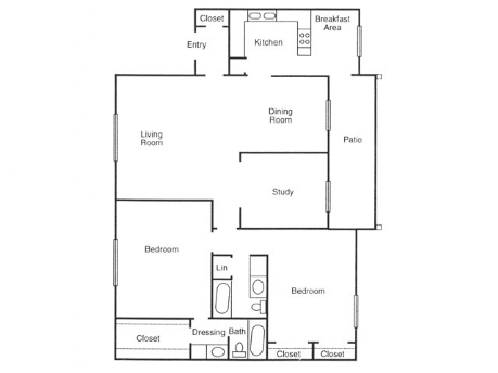1,432 sq. ft. Cypress floor plan