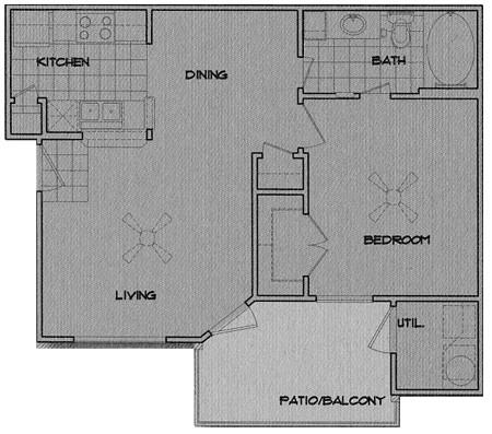 602 sq. ft. Niagra floor plan