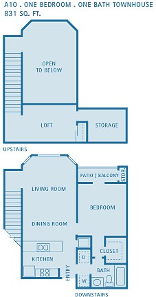 831 sq. ft. Pisces floor plan