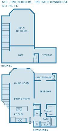 831 sq. ft. Pisces floor plan