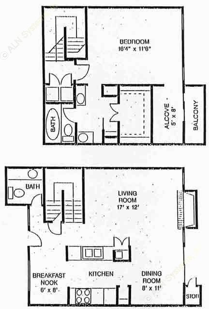 1,078 sq. ft. Richmond floor plan