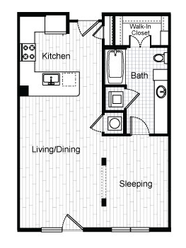 667 sq. ft. E4 floor plan