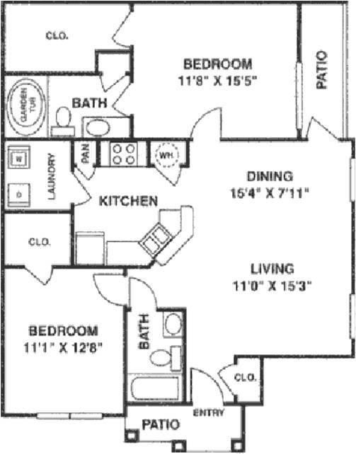 1,147 sq. ft. B2 Lower floor plan