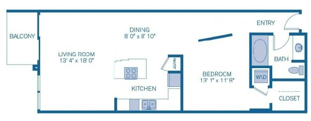 831 sq. ft. to 886 sq. ft. E4 floor plan