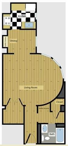 1,068 sq. ft. 3A2.1 floor plan