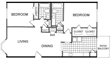 1,050 sq. ft. Amarillo floor plan