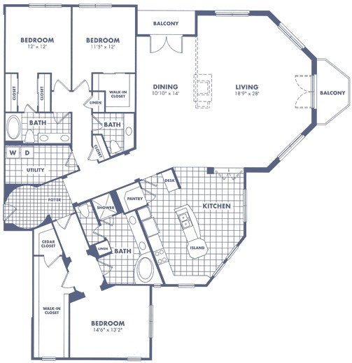 2,776 sq. ft. C5 floor plan