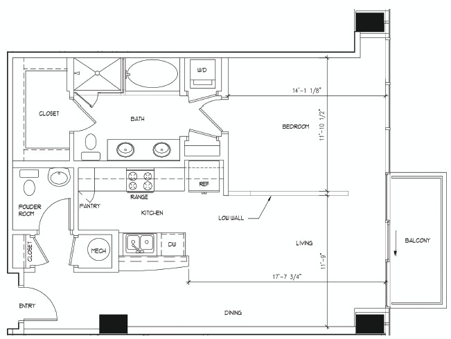 853 sq. ft. PICASSO floor plan