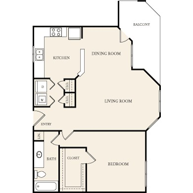972 sq. ft. A-4 floor plan