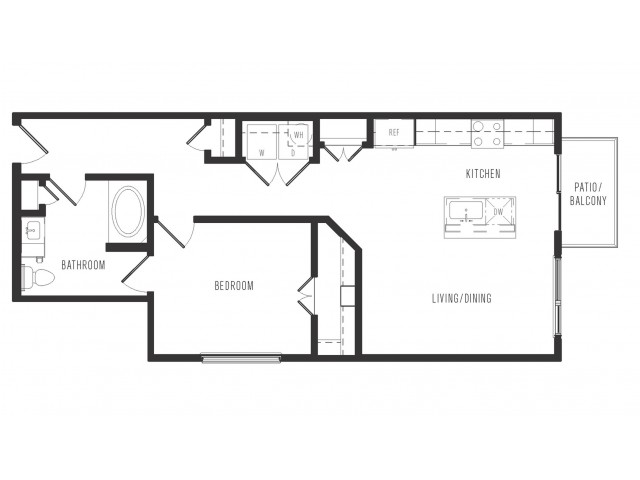 743 sq. ft. A5.1 floor plan