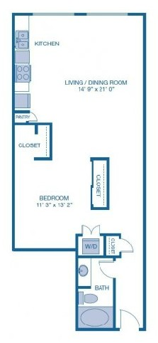780 sq. ft. to 785 sq. ft. E3 floor plan