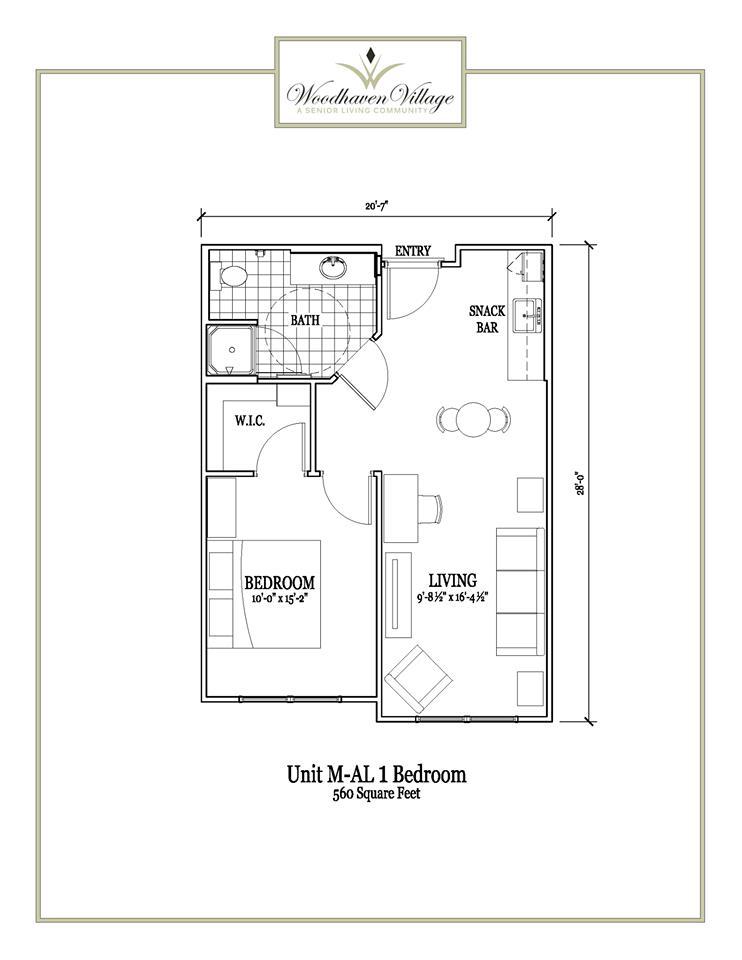 560 sq. ft. floor plan