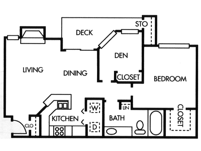 862 sq. ft. A5 floor plan