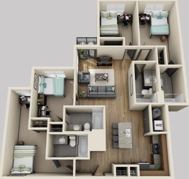 1,351 sq. ft. floor plan