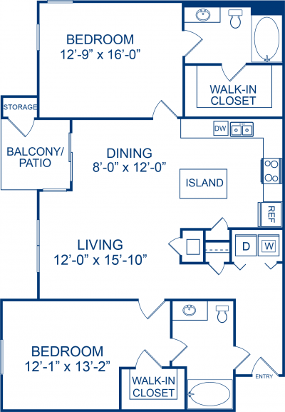 1,287 sq. ft. PALOMINO floor plan