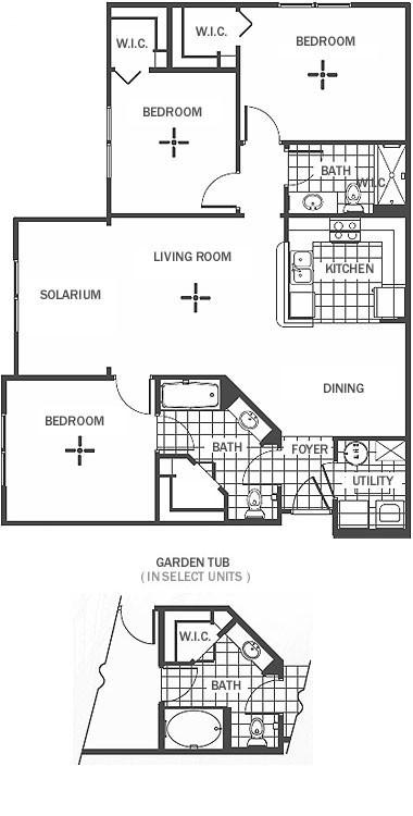 1,184 sq. ft. floor plan