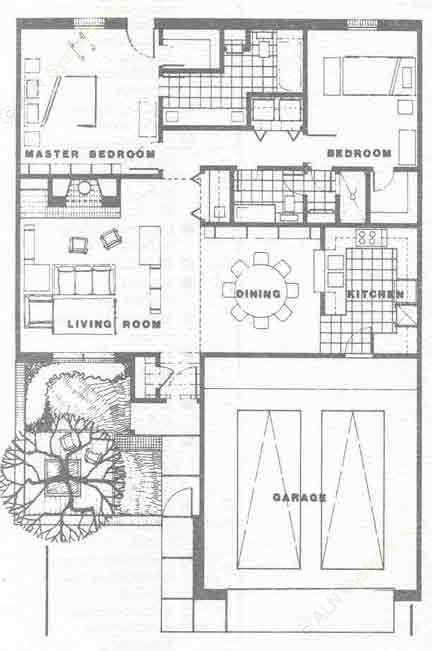 1,277 sq. ft. A floor plan