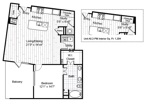1,026 sq. ft. A8.2 floor plan