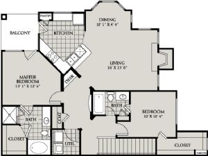 1,189 sq. ft. C6 floor plan