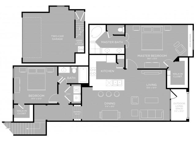 1,387 sq. ft. Capitol B4 floor plan