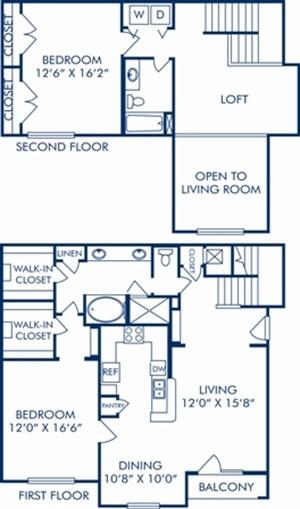 1,641 sq. ft. G2 floor plan