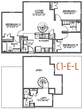 1,128 sq. ft. floor plan