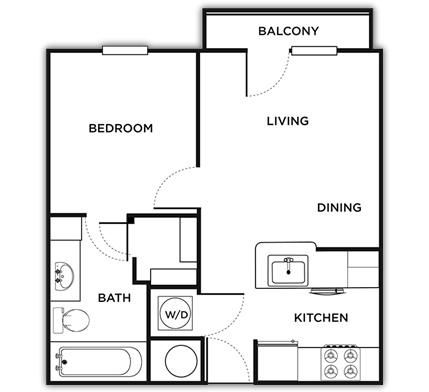 529 sq. ft. Padova floor plan