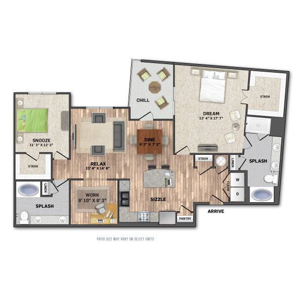 1,537 sq. ft. B4.1 floor plan