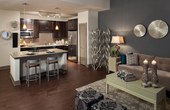 Living/Kitchen at Listing #225976