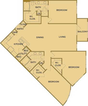 1,701 sq. ft. E3s Mkt floor plan