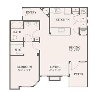 861 sq. ft. Hopewell floor plan