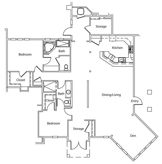 1,843 sq. ft. B6 floor plan