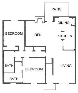 1,325 sq. ft. floor plan