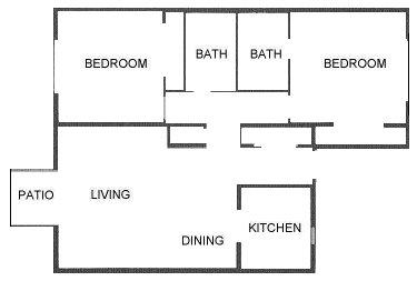 965 sq. ft. floor plan