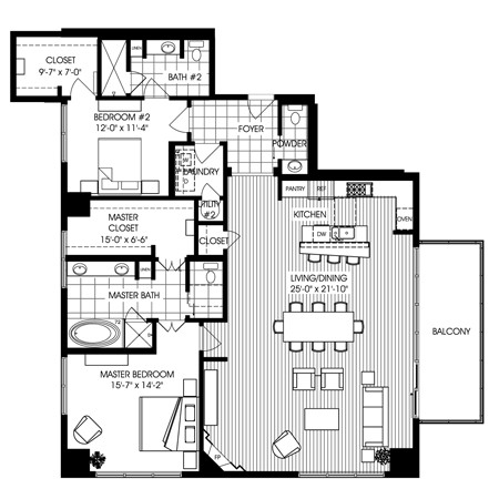 1,861 sq. ft. B3 floor plan