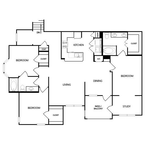 1,675 sq. ft. C3G floor plan
